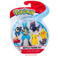 Pokemon Battle Figure Set Lucario, Zorua und Pikachu