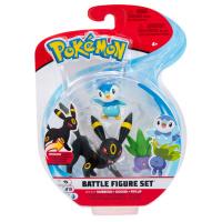 Pokemon Battle Figure Set Nachtara, Myrapla und Plinfa