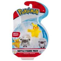 Pokemon Battle Figure Pack Pikachu und Wolly
