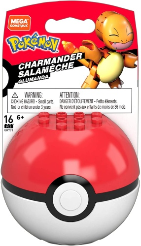 Mattel GKY71 Mega Construx Pokemon Glumanda mit Pokeball...