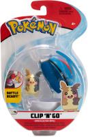 Pokemon Clip N Go Morpeko (Pappsattmuster) + Superball