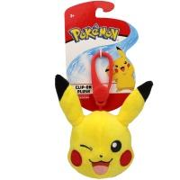 Pokemon Clip-On Plüsch Pikachu zwinkernd