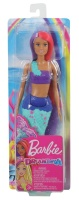 Mattel GJK09 Barbie Dreamtopia Meerjungfrau Puppe (pink-...