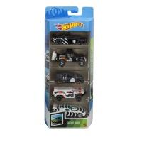 Mattel GTN45 Hot Wheels Speed Blur 5er Autos Set