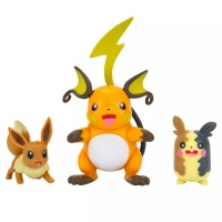 Pokemon Battle Figure Set Raichu + Morpeko...