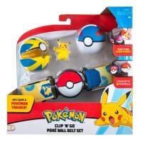 Pokemon Clip N Go Pikachu Pokemon-Trainer Gürtel Set