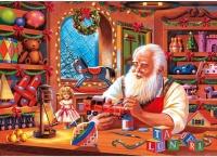 Clementoni 39584 Christmas Collection Santa Works 1000...