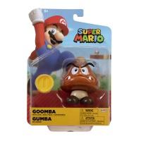 Super Mario Figur Gumba mit Münze 10 cm Wave 24