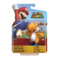 Super Mario Figur Oranger Yoshi mit Ei 10 cm Wave 24