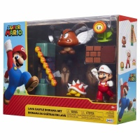 Super Mario Diorama Set Lava Schloss Multipack