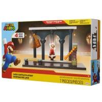 Super Mario Spielset Lava Schloss mit Figur