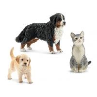 Schleich13847 3er Tiere Set Hund und Katze