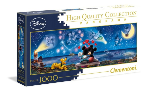 Clementoni 39449 Mickey und Minnie 1000 Teile Puzzle High Quality Collection Panorama