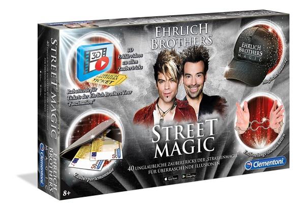 Clementoni 59049 Street Magic Ehrlich Brothers Strassenmagie Zauberkasten