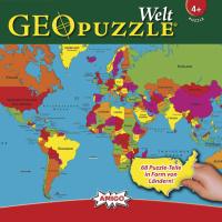 Amigo 00381 GeoPuzzle Welt 68 Teile Puzzle