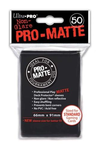 Black PRO-Matte Sleeves 50 Kartenhüllen